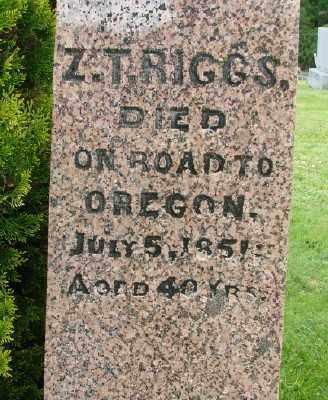 RIGGS, ZADOC T - Polk County, Oregon   ZADOC T RIGGS - Oregon Gravestone Photos