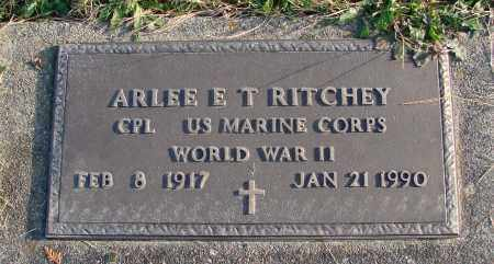 RITCHEY, ARLEE E T - Polk County, Oregon | ARLEE E T RITCHEY - Oregon Gravestone Photos
