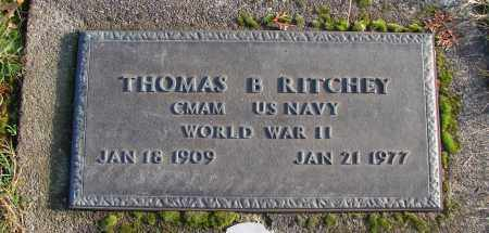 RITCHEY (WWII), THOMAS B - Polk County, Oregon   THOMAS B RITCHEY (WWII) - Oregon Gravestone Photos
