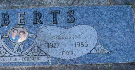 ROBERTS, LOUISE B - Polk County, Oregon   LOUISE B ROBERTS - Oregon Gravestone Photos
