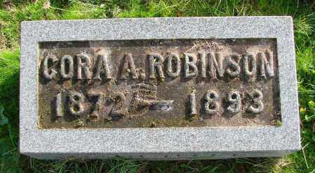 ROBINSON, CORA A - Polk County, Oregon   CORA A ROBINSON - Oregon Gravestone Photos