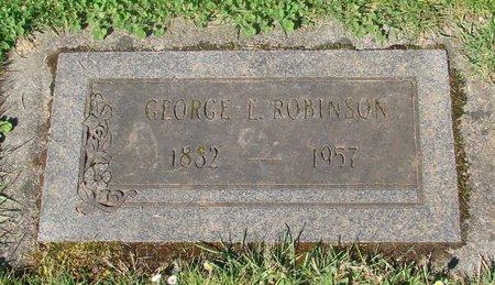 ROBINSON, GEORGE E - Polk County, Oregon   GEORGE E ROBINSON - Oregon Gravestone Photos