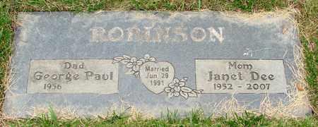 ROBINSON, JANET DEE - Polk County, Oregon | JANET DEE ROBINSON - Oregon Gravestone Photos