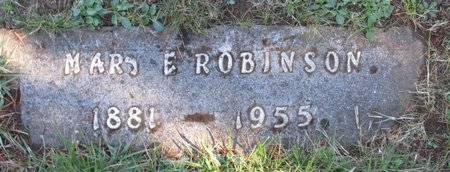 ROBINSON, MARY E - Polk County, Oregon   MARY E ROBINSON - Oregon Gravestone Photos