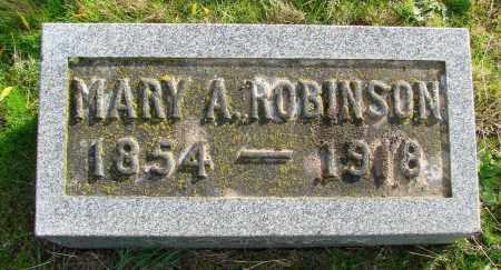 ROBINSON, MARY A - Polk County, Oregon | MARY A ROBINSON - Oregon Gravestone Photos