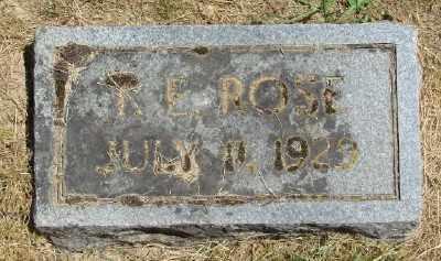 ROSE, R E - Polk County, Oregon   R E ROSE - Oregon Gravestone Photos