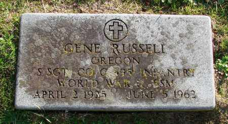 RUSSELL, GENE - Polk County, Oregon   GENE RUSSELL - Oregon Gravestone Photos