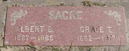 SACRE, ALBERT B - Polk County, Oregon | ALBERT B SACRE - Oregon Gravestone Photos