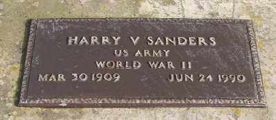 SANDERS, HARRY V - Polk County, Oregon | HARRY V SANDERS - Oregon Gravestone Photos