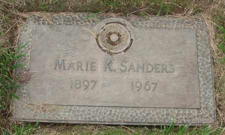 SANDERS, MARIE K - Polk County, Oregon | MARIE K SANDERS - Oregon Gravestone Photos