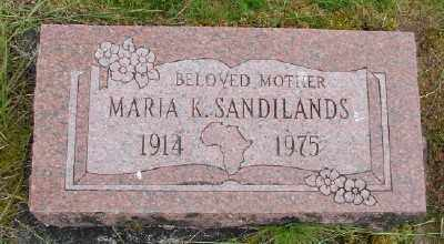 NEUFELDT SANDILANDS, MARIA KATHERINA - Polk County, Oregon   MARIA KATHERINA NEUFELDT SANDILANDS - Oregon Gravestone Photos
