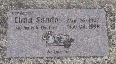 SANDO, ELMA - Polk County, Oregon | ELMA SANDO - Oregon Gravestone Photos
