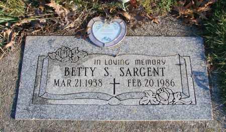 SARGENT, BETTY S - Polk County, Oregon   BETTY S SARGENT - Oregon Gravestone Photos