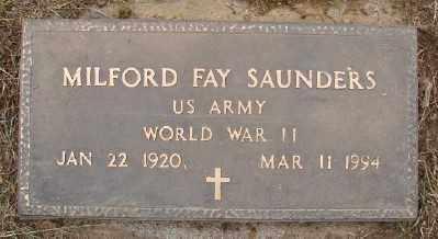 SAUNDERS, MILFORD FAY - Polk County, Oregon | MILFORD FAY SAUNDERS - Oregon Gravestone Photos