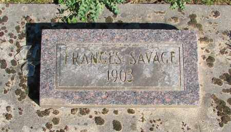 SAVAGE, FRANCES - Polk County, Oregon | FRANCES SAVAGE - Oregon Gravestone Photos