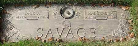 SAVAGE, JACK A - Polk County, Oregon | JACK A SAVAGE - Oregon Gravestone Photos