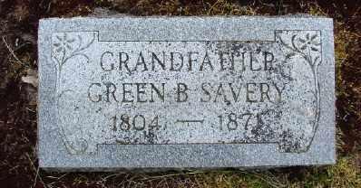 SAVERY, GREEN B - Polk County, Oregon | GREEN B SAVERY - Oregon Gravestone Photos