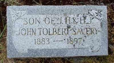 SAVERY, JOHN TOLBERT - Polk County, Oregon | JOHN TOLBERT SAVERY - Oregon Gravestone Photos