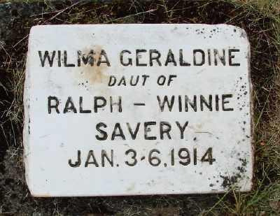SAVERY, WILMA GERALDINE - Polk County, Oregon   WILMA GERALDINE SAVERY - Oregon Gravestone Photos