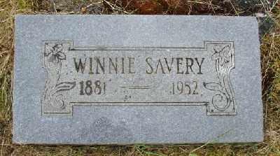 SAVERY, WINNIE - Polk County, Oregon   WINNIE SAVERY - Oregon Gravestone Photos