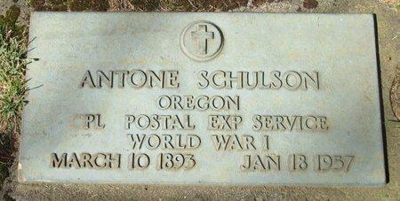 SCHULSON, ANTONE - Polk County, Oregon | ANTONE SCHULSON - Oregon Gravestone Photos