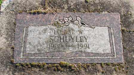 SCHUYLEY, LOUISE W - Polk County, Oregon   LOUISE W SCHUYLEY - Oregon Gravestone Photos