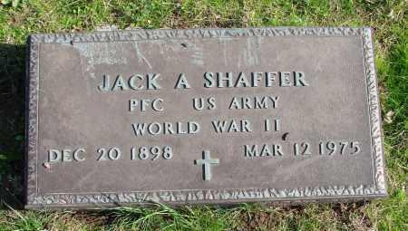 SHAFFER (WWII), JACK A - Polk County, Oregon   JACK A SHAFFER (WWII) - Oregon Gravestone Photos