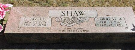 SHAW, C LAVELLE - Polk County, Oregon | C LAVELLE SHAW - Oregon Gravestone Photos