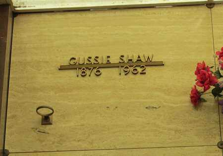 SHAW, GUSSIE - Polk County, Oregon | GUSSIE SHAW - Oregon Gravestone Photos