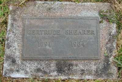 SHEARER, GERTRUDE - Polk County, Oregon   GERTRUDE SHEARER - Oregon Gravestone Photos