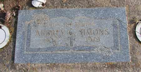 SIMONS, AUBREY C - Polk County, Oregon   AUBREY C SIMONS - Oregon Gravestone Photos
