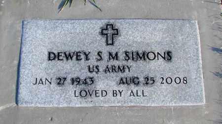 SIMONS (SERV), DEWEY S M - Polk County, Oregon   DEWEY S M SIMONS (SERV) - Oregon Gravestone Photos