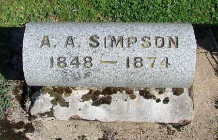 SIMPSON, A A - Polk County, Oregon | A A SIMPSON - Oregon Gravestone Photos