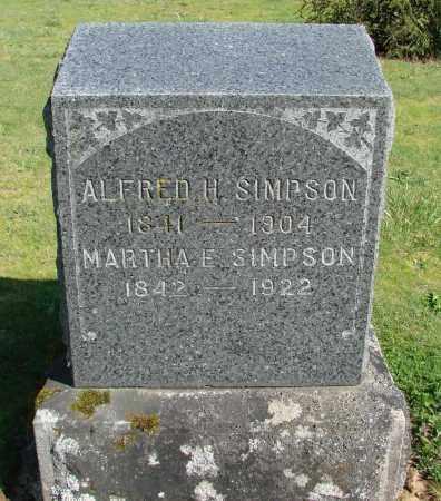 SIMPSON, ALFRED HENDERSON - Polk County, Oregon   ALFRED HENDERSON SIMPSON - Oregon Gravestone Photos