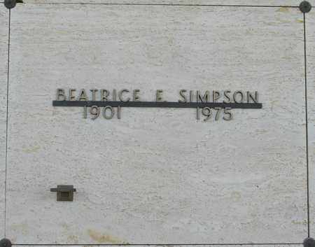 SIMPSON, BEATRICE ELSIE - Polk County, Oregon | BEATRICE ELSIE SIMPSON - Oregon Gravestone Photos