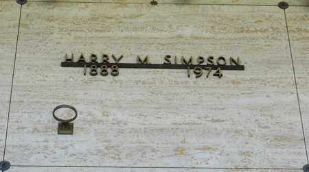 SIMPSON, HARRY M - Polk County, Oregon | HARRY M SIMPSON - Oregon Gravestone Photos