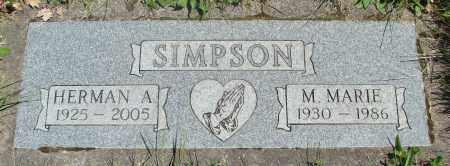SIMPSON, M MARIE - Polk County, Oregon | M MARIE SIMPSON - Oregon Gravestone Photos