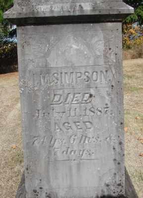 SIMPSON, I M - Polk County, Oregon   I M SIMPSON - Oregon Gravestone Photos