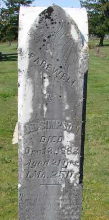SIMPSON, JEFFERSON D - Polk County, Oregon | JEFFERSON D SIMPSON - Oregon Gravestone Photos