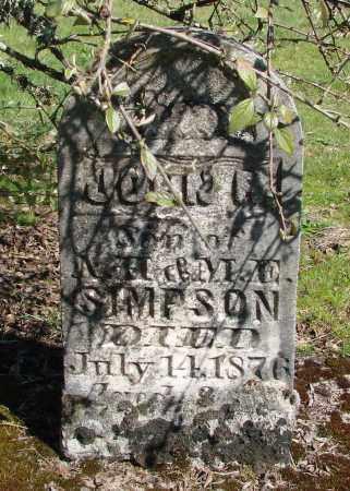 SIMPSON, JOHN B - Polk County, Oregon | JOHN B SIMPSON - Oregon Gravestone Photos