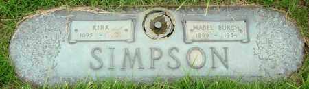 SIMPSON, KIRK - Polk County, Oregon | KIRK SIMPSON - Oregon Gravestone Photos