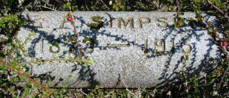 SIMPSON, R F - Polk County, Oregon | R F SIMPSON - Oregon Gravestone Photos