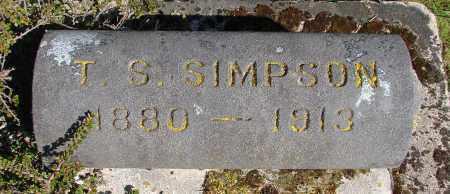 SIMPSON, T S - Polk County, Oregon | T S SIMPSON - Oregon Gravestone Photos