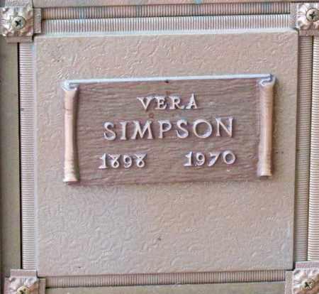 SIMPSON, VERA - Polk County, Oregon   VERA SIMPSON - Oregon Gravestone Photos