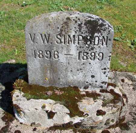 SIMPSON, V W - Polk County, Oregon | V W SIMPSON - Oregon Gravestone Photos