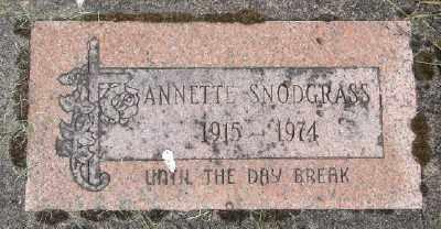 SNODGRASS, ANNETTE - Polk County, Oregon | ANNETTE SNODGRASS - Oregon Gravestone Photos