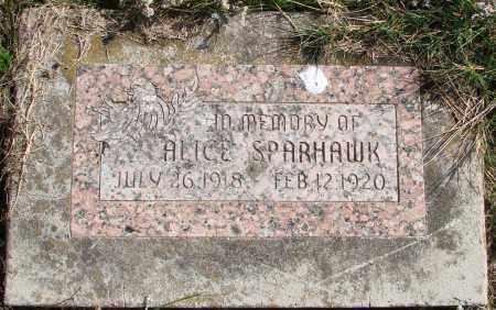 SPARHAWK, ALICE - Polk County, Oregon   ALICE SPARHAWK - Oregon Gravestone Photos