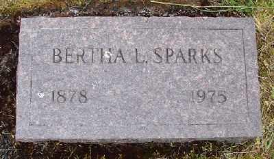 SPARKS, BERTHA L - Polk County, Oregon | BERTHA L SPARKS - Oregon Gravestone Photos