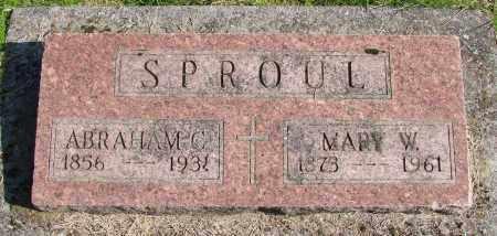 SPROUL, MARY W - Polk County, Oregon | MARY W SPROUL - Oregon Gravestone Photos