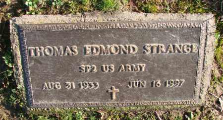 STRANGE, THOMAS EDMOND - Polk County, Oregon   THOMAS EDMOND STRANGE - Oregon Gravestone Photos